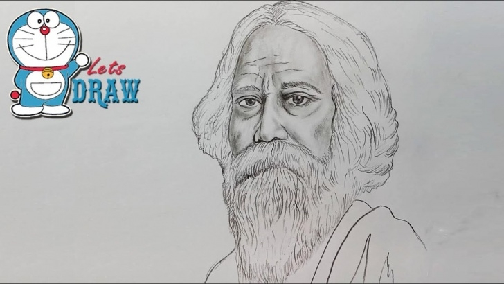 Learning Pencil Sketch Of Rabindranath Tagore Free How To Draw Rabindranath Tagore Pics