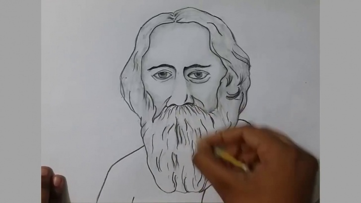 Learning Rabindranath Tagore Pencil Sketch Courses Learn How To Draw A Pictures Of World Poet Rabindranath Tagore With Pencil  Sketch Pics
