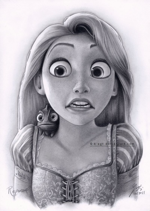 Learning Rapunzel Pencil Drawing Easy Disney: Disney Princesses: Tangled: Art: Rapunzel Drawing 4 By B-Agt Picture