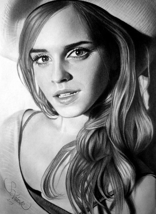 Learning Realistic Charcoal Drawing Step by Step Charcoal Drawing Emma Watson | Charcoal Drawings In 2019 | Pencil Picture