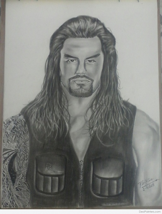 Learning Roman Reigns Pencil Drawing Easy Pencil Sketch Of -Roman Reigns | Desipainters Photos