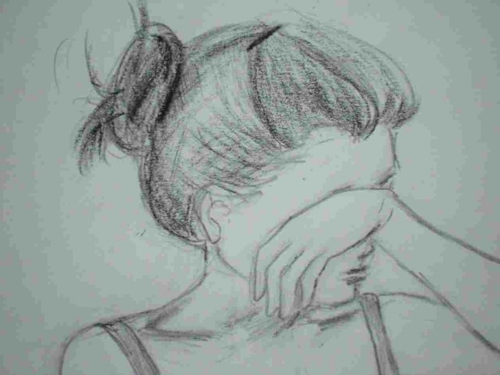 Learning Sad Girl Pencil Drawing Simple Sad Pencil Sketching Of Sad Girl Girl Pencil Sketch Sketches Picture