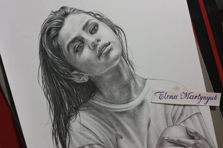 Learning Selena Gomez Pencil Drawing Easy Selena Gomez Drawing, Pencil, Sketch, Colorful, Realistic Art Images Images