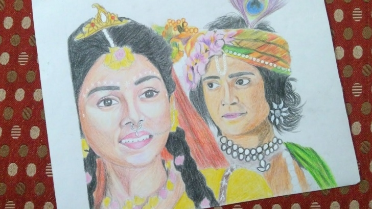 Learning Serial Radha Krishna Pencil Sketch Techniques Drawing Radha Krishna | Drawing Sumedh Mudgalkar And Mallika Singh | Radha  Krishna Tv Serial Images