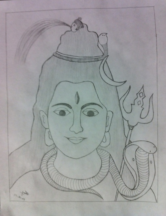 Learning Shiva Pencil Art Tutorials Pencil Sketch Of Shiva And Pencil Drawing Of Lord Shiva Easy Pencil Photos