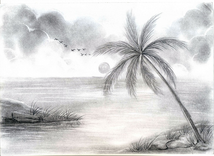 Learning Simple Sketches Of Nature for Beginners Pencil Sketches Of Nature At Paintingvalley | Explore Collection Image