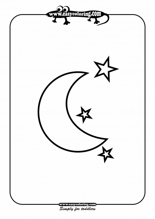 Learning Star Pencil Drawing Courses Moon And Stars - Easy Coloring Shapes - Letter M Week | Home School Pics
