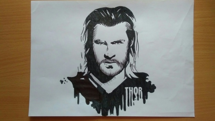 Learning Stencil Art Drawing for Beginners How To Draw Thor (Stencil Art)(Hac) Pics