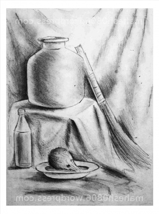 Learning Still Life Pencil Sketch Simple Beginner Still Life Pencil Drawing Pic