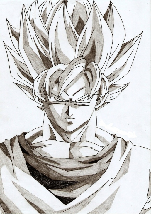 Learning Super Pencil Drawings Courses Goku Pencil Sketch At Paintingvalley | Explore Collection Of Picture