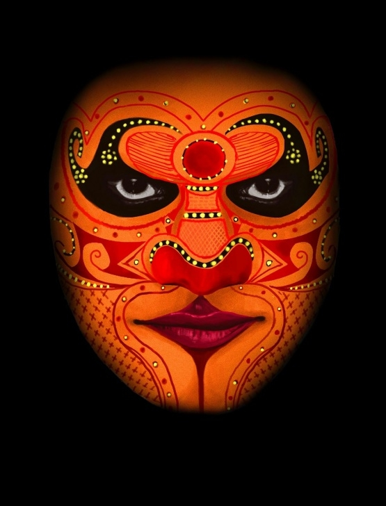 Learning Theyyam Pencil Drawing Techniques for Beginners Crabcake: Theyyam :) | Painted Faces In 2019 | Kerala Mural Photo