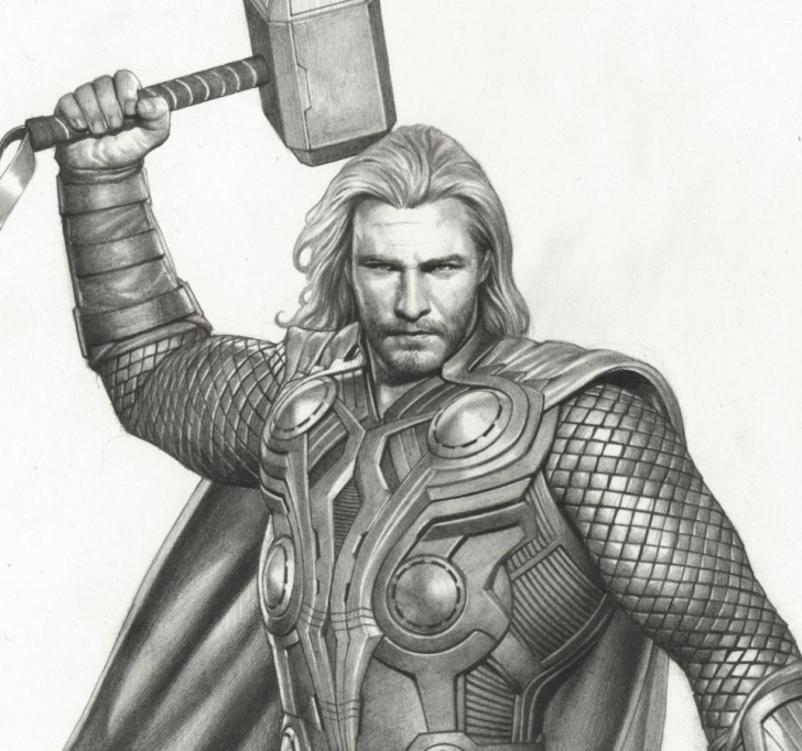 Learning Thor Drawing In Pencil Tutorial Thor Avengers Drawing At Paintingvalley | Explore Collection Of Picture
