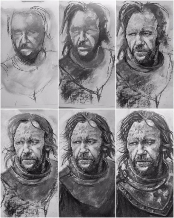 Learning Vine Charcoal Drawing Tutorial Drawing The Hound Using Vine Charcoal, 5Hrs Of Progress : Drawing Image