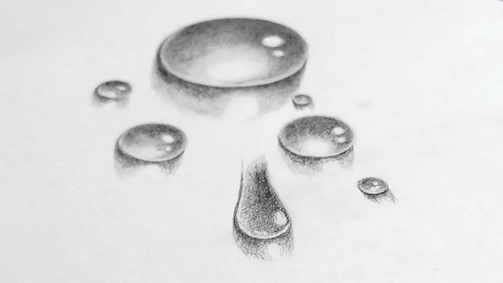 Learning Water Pencil Drawing Easy How To Draw Very Realistic Water Drop Pencil Sketch Drawing | Stylenrich Picture