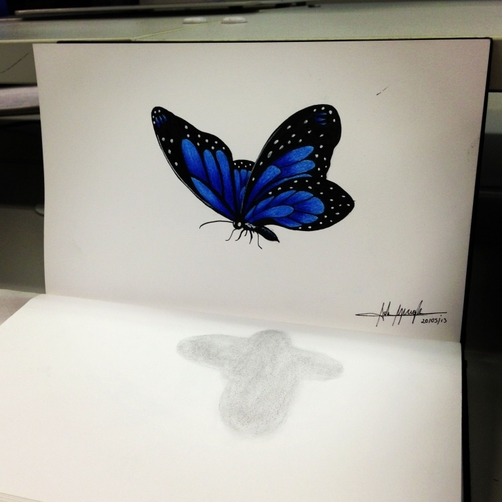 Marvelous 3D Butterfly Drawings In Pencil Easy Butterfly 3D | 3D Pencil Drawing | Pencil Drawings, 3D Pencil Image