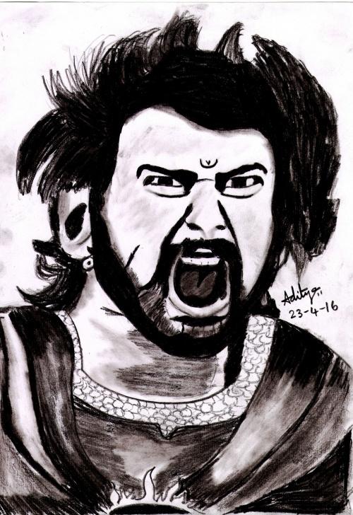 Marvelous Bahubali 2 Pencil Sketch Techniques Bahubali | Pencil Sketches | Pencil Drawings, Painting, Artist Painting Images