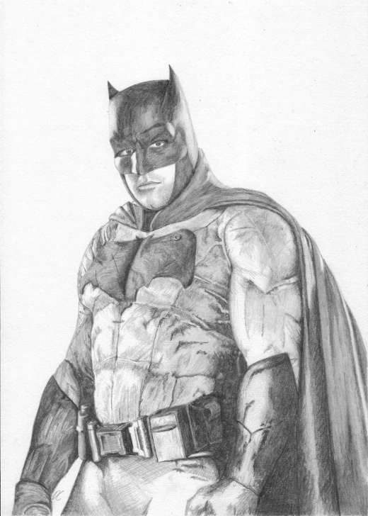 Marvelous Batman Pencil Drawing Ideas Batman - Pencil Drawing - The Justice League - Fan Art Print By Images