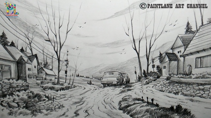 Marvelous Beautiful Pencil Shading Drawings Step by Step How To Draw A Beautiful Scenery With Pencil | Pencil Shading | Step By Step Photos