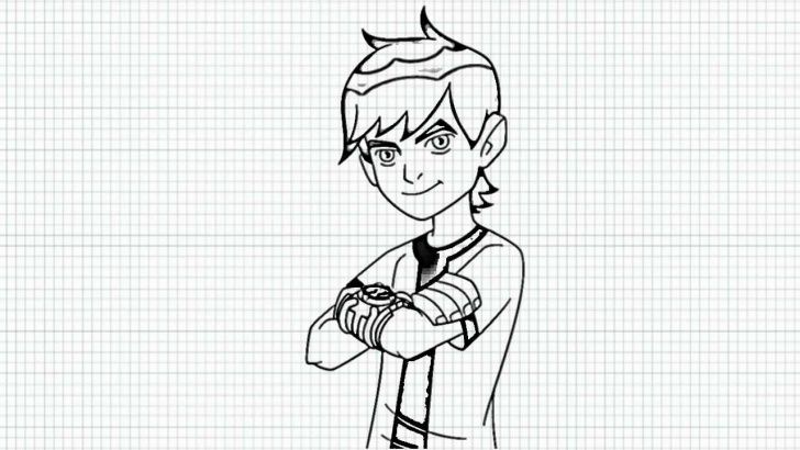 Marvelous Ben 10 Pencil Drawing Courses How To Draw Ben 10 - Ben Tennyson From Ben Ten - Video Images