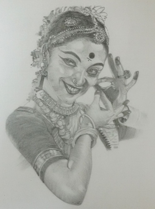 Marvelous Bharatanatyam Pencil Sketches Courses Sketch Of Indian Dancers At Paintingvalley | Explore Collection Images