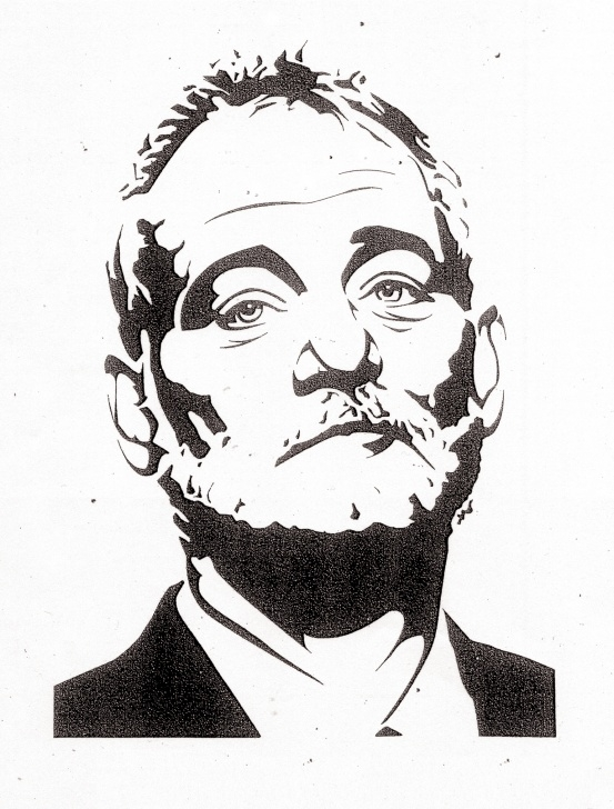 Marvelous Bill Murray Stencil for Beginners Bill Murray Stripes Stencil - #traffic-Club Picture