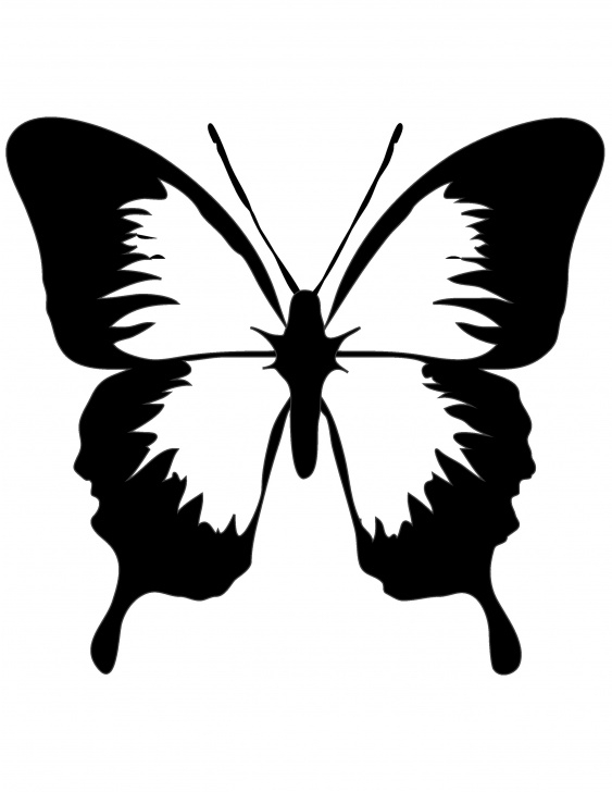 Marvelous Butterfly Stencil Art Courses Pin By Lauraine On Art | Butterfly Stencil, Butterfly Clip Art Pictures