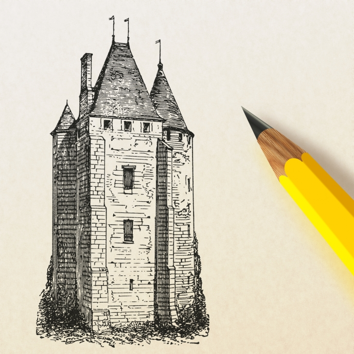 Marvelous Castle Pencil Drawing Free Pencil Drawing A Castle Vector Clipart Image - Free Stock Photo Photo