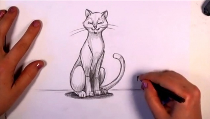 Marvelous Cat Pencil Art Tutorial How To Draw A Cat In Pencil - Cc Images