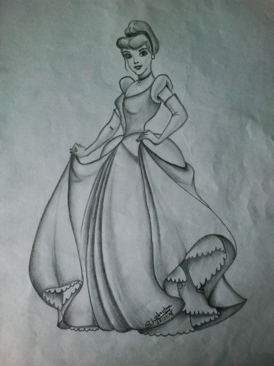 Marvelous Cinderella Pencil Drawing Simple Cinderella Pencil Sketch And Cinderella Pencil Sketches Cinderella Pic
