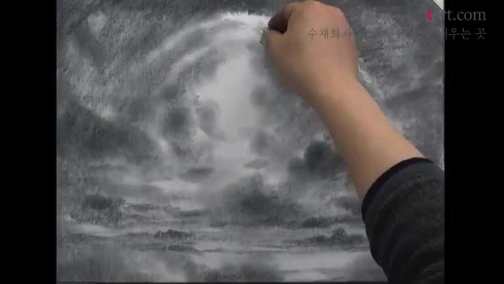 Marvelous Cloud Pencil Drawing Tutorials How To Draw The Cloud With Pencil By Um Kyungho Images