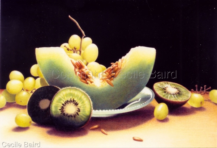 Marvelous Colored Pencil Still Life Free Still Life Colored Pencil Drawings: Shades Of Green By Cecile Baird Images