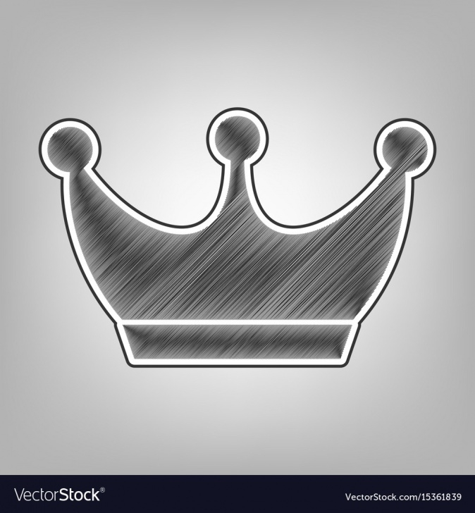 Marvelous Crown Pencil Drawing Ideas King Crown Sign Pencil Sketch Imitation Images