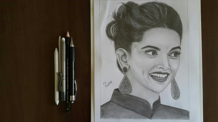 Marvelous Deepika Padukone Pencil Sketch for Beginners Realistic Pencil Sketch | Deepika Padukone Photo