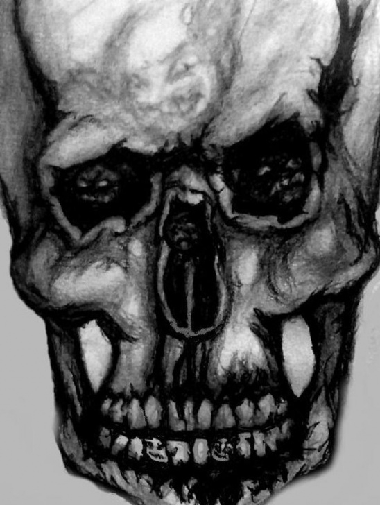 Marvelous Demon Pencil Drawing Ideas Skull Haunted With Demons By Extremevampyr Pencil Drawing Digital Download  Print Png (Fixed) Images