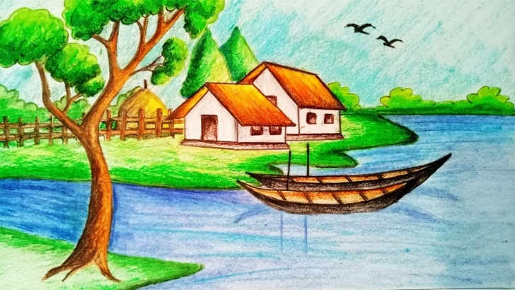 Marvelous Drawing Images Village Easy Simple Village Drawing At Paintingvalley | Explore Collection Of Images