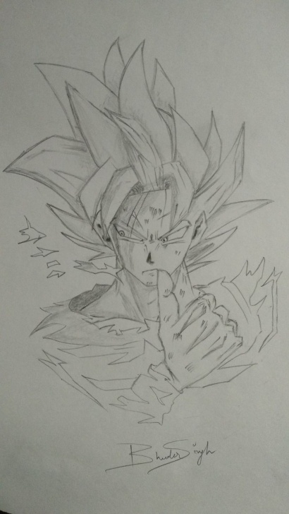 Marvelous Easy Goku Drawings In Pencil Ideas Goku Super Saiyan Dragon Ball Z Pencil Art Pencil Sketches How To Pics