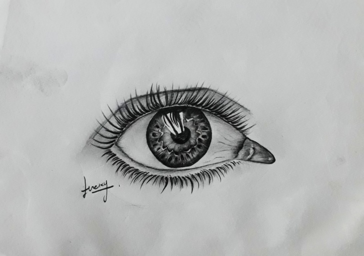 Marvelous Eye Pencil Sketch Tutorials Black And White Eye Pencil Sketch ~ Lky Sketch Pictures