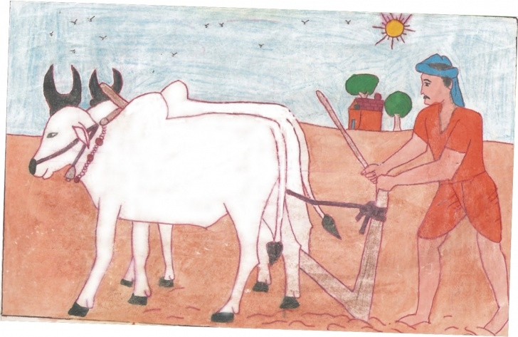 Marvelous Farmer Pencil Drawing Free Sketch Of Farmer At Paintingvalley | Explore Collection Of Image