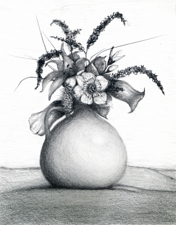 Marvelous Flower Pot Pencil Shading Tutorials Flower Shading Drawing At Paintingvalley | Explore Collection Of Picture