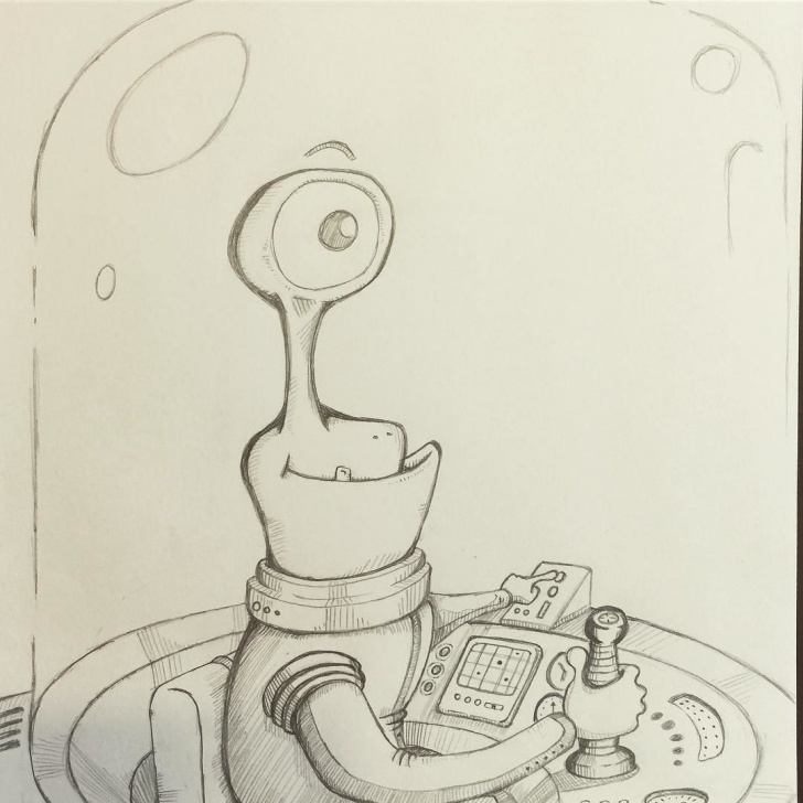 Marvelous Funny Pencil Drawings Simple Greetings Earthlings #cartoon #doodle #ufo #alien #funny #pencil Images