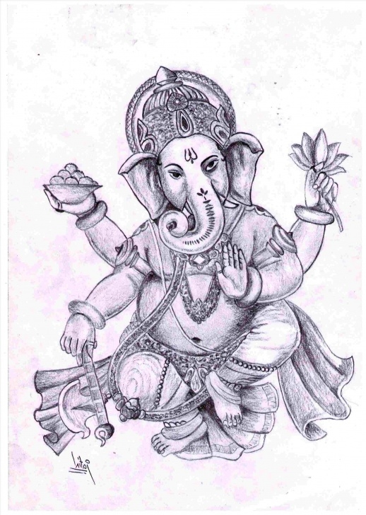 Marvelous Ganpati Pencil Sketch Easy Pencil Ganpati Sketch Pics