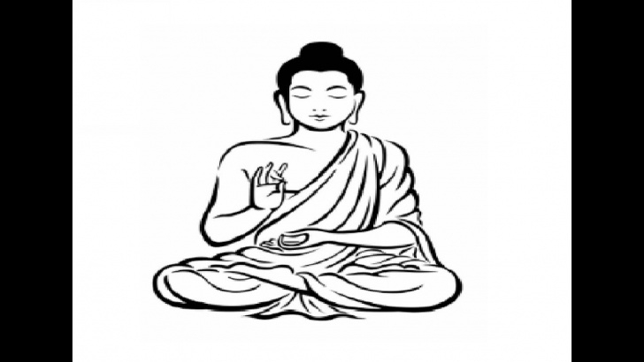 Marvelous Gautam Buddha Pencil Drawing Simple How To Draw Gautam Buddha Full Body Pencil Drawing Step By Step Picture