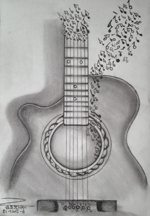 Marvelous Guitar Pencil Drawing Lessons Guitar Paintings Search Result At Paintingvalley Pics