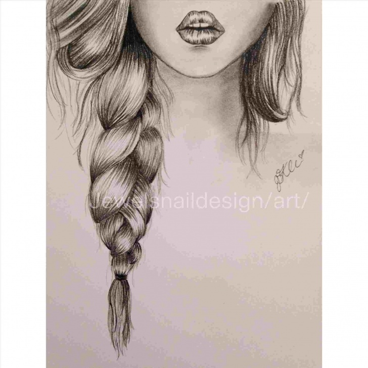 Marvelous Hair Pencil Drawing Step by Step Long Hair Pencil Sketch Of Girl Photos