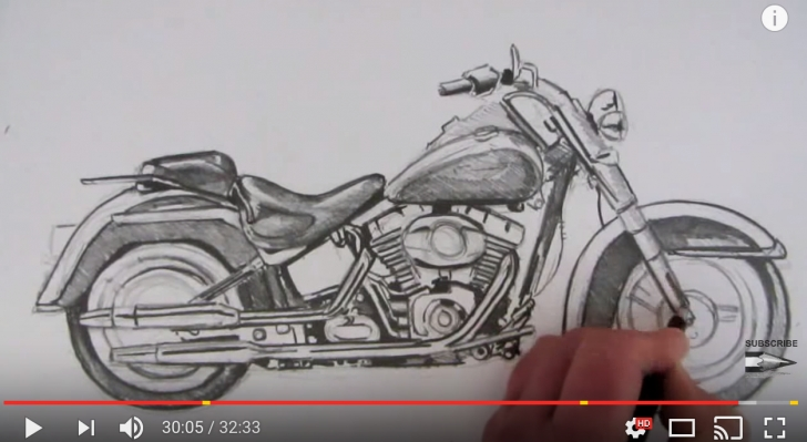 Marvelous Harley Davidson Pencil Drawings Simple How To Draw A Harley Davidson Motorcycle Picture