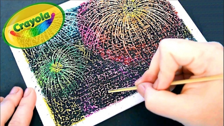 Marvelous How To Draw Firworks With Color Pencils Tutorials Diy Crayon Fireworks ● Fuegos Artificiales Con Crayones ● Scratch Art Pics