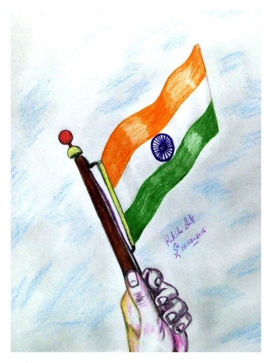 Marvelous Independence Day Pencil Drawing Tutorials Google -My Own Work On Google : Pencil Drawing - Independence Day Image