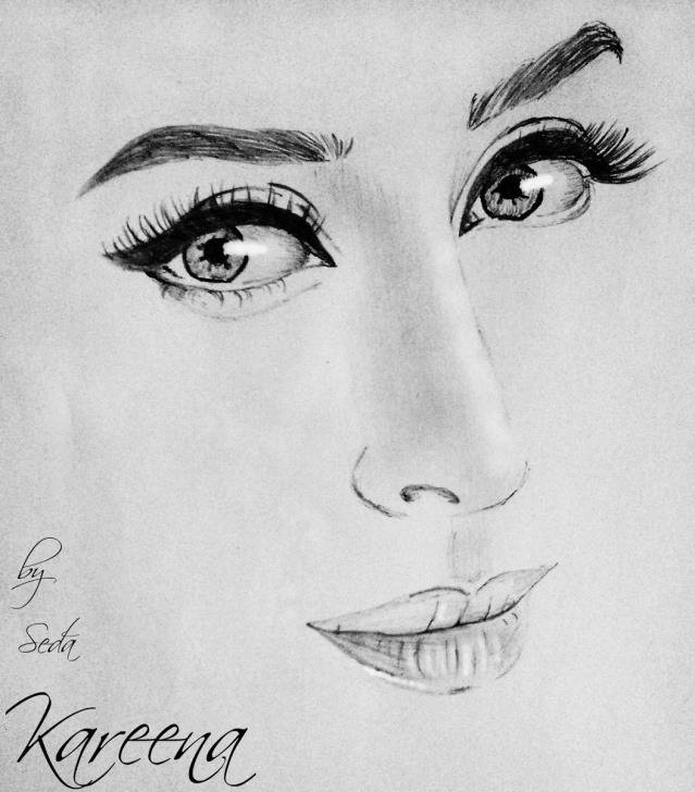 Marvelous Kareena Kapoor Sketch Ideas Kareena Kapoor Drawing Sketch | Drawing Skill Images