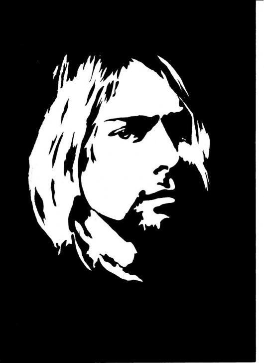 Kurt Cobain Stencil Art