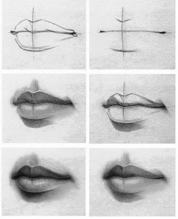Marvelous Lip Pencil Sketch Techniques for Beginners Pencil Lip Drawing At Paintingvalley | Explore Collection Of Picture